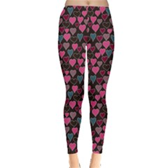 Heart Dark Leggings  by CoolDesigns