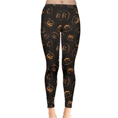 Black Happy Halloween Night Illustration Women s Leggings by CoolDesigns