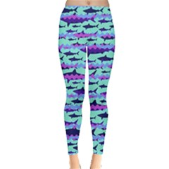 Mint Shark Leggings  by CoolDesigns