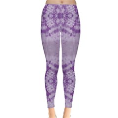 Purple Tie Dye Leggings by CoolDesigns