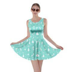 Mint Lovely Cats Pattern Skater Dress by CoolDesigns