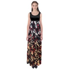 Red Butterfly Floral Empire Waist Maxi Dress by CoolDesigns