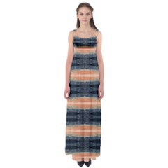Orange Stripes Empire Waist Maxi Dress by CoolDesigns