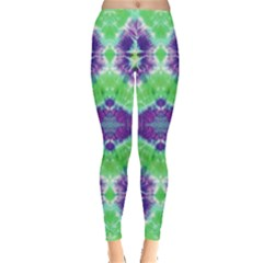 Neon Green Tie Dye Leggings by CoolDesigns