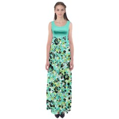 Mint Floral Empire Waist Maxi Dress by CoolDesigns
