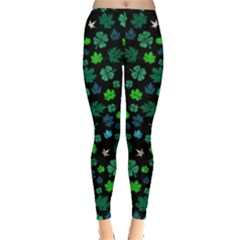 Shamrock Dark Leggings  by CoolDesigns