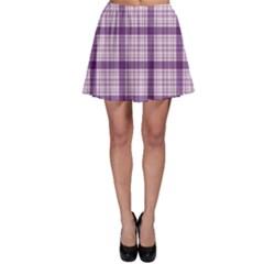 Purple Tartan Plaid Pattern Skater Skirt by CoolDesigns