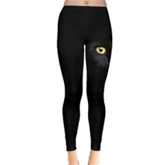 Cat In Dark Leggings  by CoolDesigns