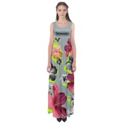 Gray Hawaii Empire Waist Maxi Dress by CoolDesigns