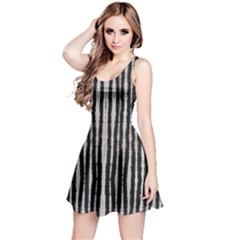 Black Strip Tie Dye Reversible Sleeveless Dress by CoolDesigns