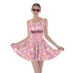 Pink Yummy Ice Cream Pattern Skater Dress by CoolDesigns