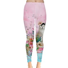 Lady Cat  Leggings  by CoolDesigns