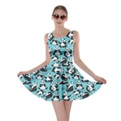Light Blue Panda Skater Dress by CoolDesigns