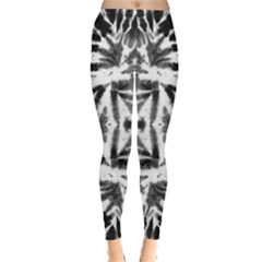 Black & White Tie Dye Leggings by CoolDesigns