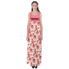 Red Roses Empire Waist Maxi Dress by CoolDesigns
