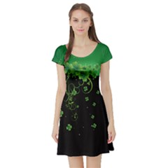 Shamrock Style Short Sleeve Skater Dress by CoolDesigns