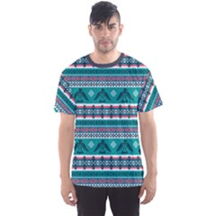 Turquoise Eagles Tribal Native American Men s Sport Mesh Tee by CoolDesigns