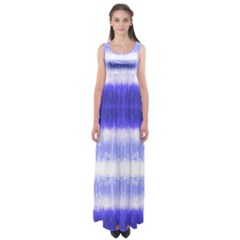 Blue Tie Dye Empire Waist Maxi Dress by CoolDesigns