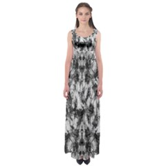 White Tie Dye 2 Empire Waist Maxi Dress by CoolDesigns