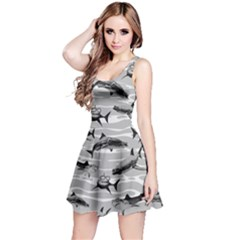Gray Shark Reversible Sleeveless Dress by CoolDesigns