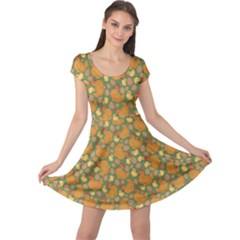 Green Chicken Flat Pattern Cap Sleeve Dress by CoolDesigns