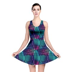 Aqua Neon Laser Beams Skater Dress  by CoolDesigns