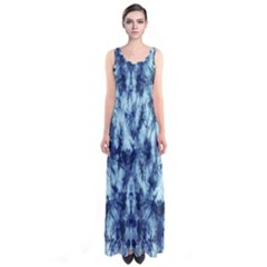 Dull Blue Tie Dye 2 Sleeveless Maxi Dress by CoolDesigns