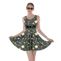 Space Green Skater Dress by cowcowclothing