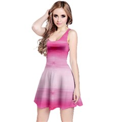Hot Pink Strips Tie Dye Sleeveless Dress by CoolDesigns