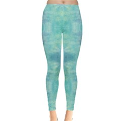 Mint Pattern Tie Dye Leggings by CoolDesigns