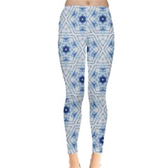 Blue Dye Tribal Aztec Leggings by CoolDesigns