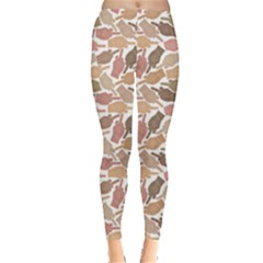 Nude Middle Finger Hands Pattern Leggings by CoolDesigns