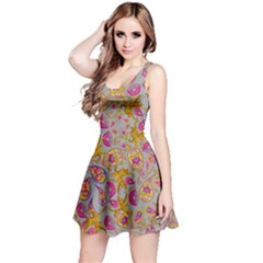Gray Paisley Sleeveless Dress by CoolDesigns