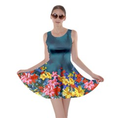 Dark Aqua Hawaii Skater Dress by CoolDesigns