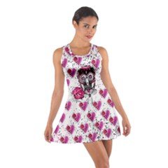 Skull Heart Cotton Racerback Dress by CoolDesigns