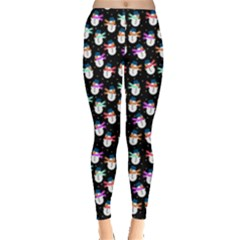 Snowman Dark Leggings  by CoolDesigns
