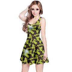 Neon Green Reversible Sleeveless Dress by CoolDesigns