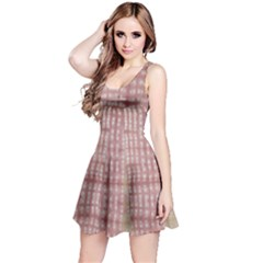 Mocha Check Tie Dye Sleeveless Dress by CoolDesigns