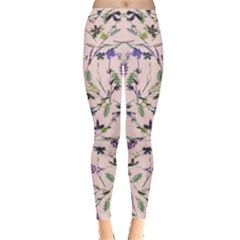 Pink Small Floral Leggings by CoolDesigns