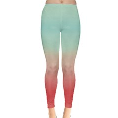 Mint & Orange Gradient Tie Dye Leggings by CoolDesigns