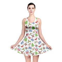 Colorful Christmas Pattern Reversible Skater Dress by CoolDesigns