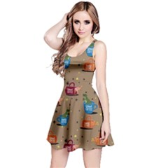 Mocha Dino in Mug Reversible Sleeveless Dress by CoolDesigns