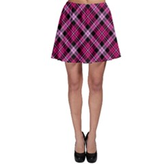 Pink Plaid Skater Skirt by CoolDesigns