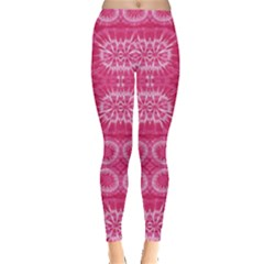 Hot Pink Pattern Tie Dye Leggings by CoolDesigns