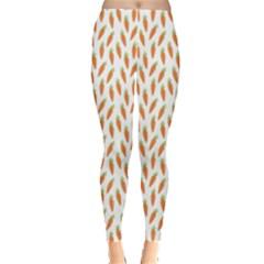 Orange Pattern Ripe Carrots Leggings by CoolDesigns
