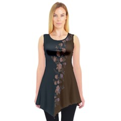 Navy&Brown Sleeveless Tunic Top by CoolDesigns