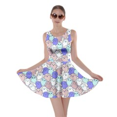 Blue Mocha Kawaii Cute Ghosts Skater Dress by CoolDesigns