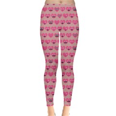 Heart Face Leggings  by CoolDesigns