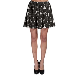 Black White Cats On Black Pattern For Your Design Skater Dress by CoolDesigns