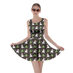 Dark Snowman Christmas Pattern Color Skater Dress by CoolDesigns